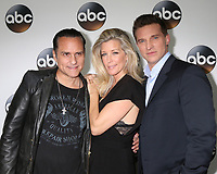 LOS ANGELES - JAN 8:  Maurice Bernard, Laura Wright, Steve Burton at the ABC TCA Winter 2018 Party at Langham Huntington Hotel on January 8, 2018 in Pasadena, CA