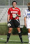 24 August 2008: Duke's Cassidy Powers. The Duke University Blue Devils defeated the Coastal Carolina University Lady Chanticleers 9-0 at Koskinen Stadium in Durham, North Carolina in an NCAA Division I Women's college soccer game.