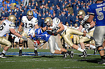 03 November  2007:  Air Force wide receiver, Chad Hall, gains extra yards during the Falcon's 30-10 victory over Army at Falcon Stadium, Air Force Academy, Colorado Springs, Colorado.