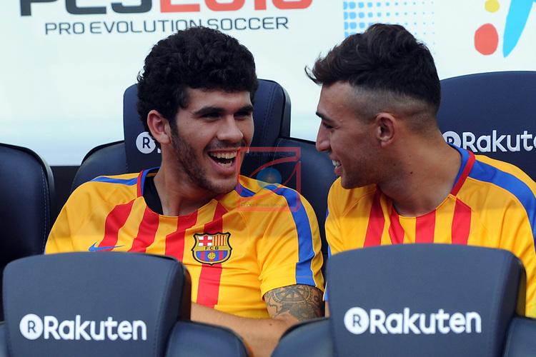 52e Trofeu Joan Gamper.<br /> FC Barcelona vs Chapecoense: 5-0.<br /> Ale&ntilde;a &amp; Munir.