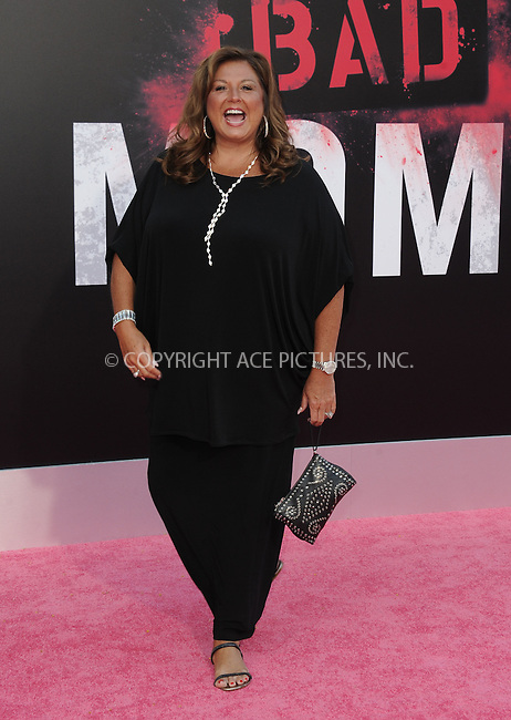 www.acepixs.com<br /> <br /> July 26 2016, LA<br /> <br /> Abby Lee Miller arriving at the premiere of 'Bad Moms' at the Mann Village Theatre on July 26, 2016 in Westwood, California.<br /> <br /> By Line: Peter West/ACE Pictures<br /> <br /> <br /> ACE Pictures Inc<br /> Tel: 6467670430<br /> Email: info@acepixs.com<br /> www.acepixs.com