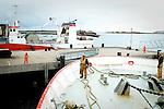 3 chalutiers de 45 métres destinés à la pêche au large forment la flotte de la scapêche. Ces bateaux sont spécialisés dans les espéces de grands fonds (sabre, lingue, grenadier, siki, etc...) dans le nord de l'Ecosse. Tous les Dix jours, le «Jack Abry II» revient au port de Lockinver pour décharger sa cargaison avant de repartir en mer.