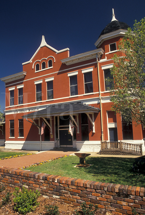 Selma, Alabama, AL, The Old brick Depot Museum in Selma in the spring.