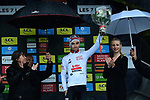 Bjorg Lambrecht (BEL) Lotto-Soudal retains the young riders White Jersey at the end of Stage 7 of the Criterium du Dauphine 2019, running 133.5km from Saint-Genix-les-Villages to Les Sept Laux - Pipay, France. 15th June 2019.<br /> Picture: ASO/Alex Broadway | Cyclefile<br /> All photos usage must carry mandatory copyright credit (© Cyclefile | ASO/Alex Broadway)