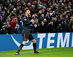 Arsenal's Shkodran Mustafi celebrates scoring his sides opening goal during the premier league match at Selhurst Park Stadium, London. Picture date 28th December 2017. Picture credit should read: David Klein/Sportimage