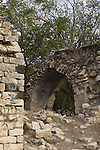 Israel, Lower Galilee, ruins of the Mosque of Hittin