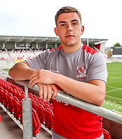 Tuesday 10th October 2017 | Ulster Rugby Media Conference<br /> <br /> Adam McBurney during an Ulster Rugby Media Conference held at Kingspan Stadium, Ravenhill Park, Belfast, Northern Ireland. Photo by John Dickson/DICKSONDIGITAL