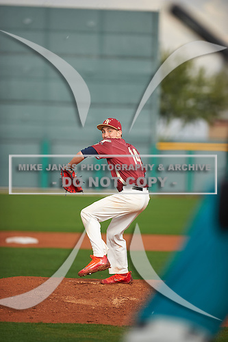 Jack Jasiak (14) of Springstead High School in Spring Hill, Florida during the Under Armour All-American Pre-Season Tournament presented by Baseball Factory on January 14, 2017 at Sloan Park in Mesa, Arizona.  (Zac Lucy/Mike Janes Photography)