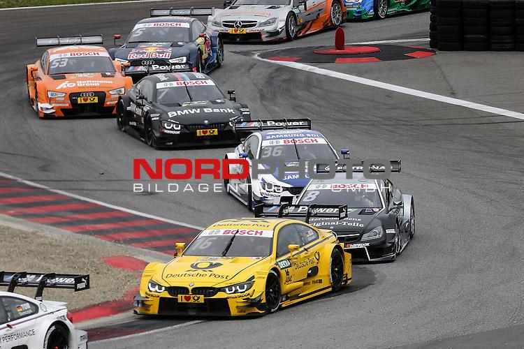 DTM 2015, 07.Lauf Oschersleben, 11.09. - 13.09.15 <br /> Timo Glock (DEU#16) BMW Team MTEK BMW M4 DTM , Christian Vietoris (DEU#8) gooix/Original-Teile Mercedes-AMG C-Coup&eacute; <br /> <br /> <br /> <br /> <br /> <br /> Foto &copy; nordphoto /  Bratic