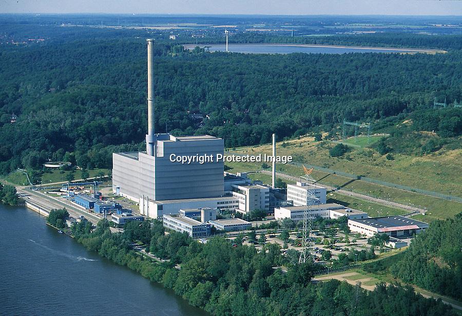 Deutschland, Schleswig- Holstein, Geesthacht, AKW Kruemmel, Atomkraftwerk, Elbe, Speicherbecken