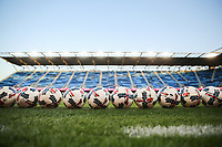 San Jose, CA - Wednesday September 27, 2017: Balls during a Major League Soccer (MLS) match between the San Jose Earthquakes and the Chicago Fire at Avaya Stadium.