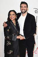 "director, Mira Nair and son, Zohran Mamdani<br /> at the London Film Festival 2016 premiere of ""Queen of Katwe"" at the Odeon Leicester Square, London.<br /> <br /> <br /> ©Ash Knotek  D3168  09/10/2016"