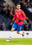 23rd March 2018, Hampden Park, Glasgow, Scotland; International Football Friendly, Scotland versus Costa Rica;Yendrick Ruiz of Costa Rica in action
