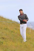 Brett Rumford (AUS) chips from the rough at the 13th green during Thursday's Round 1 of the 2018 Dubai Duty Free Irish Open, held at Ballyliffin Golf Club, Ireland. 5th July 2018.<br /> Picture: Eoin Clarke | Golffile<br /> <br /> <br /> All photos usage must carry mandatory copyright credit (&copy; Golffile | Eoin Clarke)