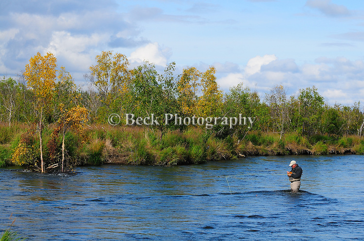 American River, fall fly fishing