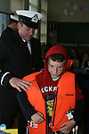 Stabannon Primary School pupil tries on a lifejacket when members of the Coastguard visited the school to give a talk on water safety...Photo NEWSFILE/Jenny Matthews.(Photo credit should read Jenny Matthews/NEWSFILE)....This Picture has been sent you under the condtions enclosed by:.Newsfile Ltd..The Studio,.Millmount Abbey,.Drogheda,.Co Meath..Ireland..Tel: +353(0)41-9871240.Fax: +353(0)41-9871260.GSM: +353(0)86-2500958.email: pictures@newsfile.ie.www.newsfile.ie.FTP: 193.120.102.198.