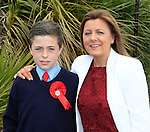 Adam and Joan Courtney during confirmation for Donacarney School at Mornington Church on Thursday 21st May 2015.<br /> Picture:  Thos Caffrey / www.newsfile.ie