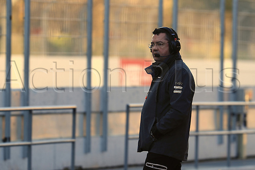 March 7th 2017, Circuit de Barcelona-Catalunya, Barcelona, Spain, Formual 1 winter testing session 2 day 1;  Eric Boullier - Racing Director of McLaren Honda