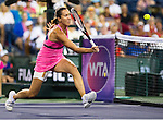 Jelena Jankovic (SRB) during her semifinal match against Sabine Lisicki (GER). Jankovic advanced to Sunday's final after defeating Lisicki 36 63 61 at the BNP Parisbas Open in Indian Wells, CA on March 20, 2015.