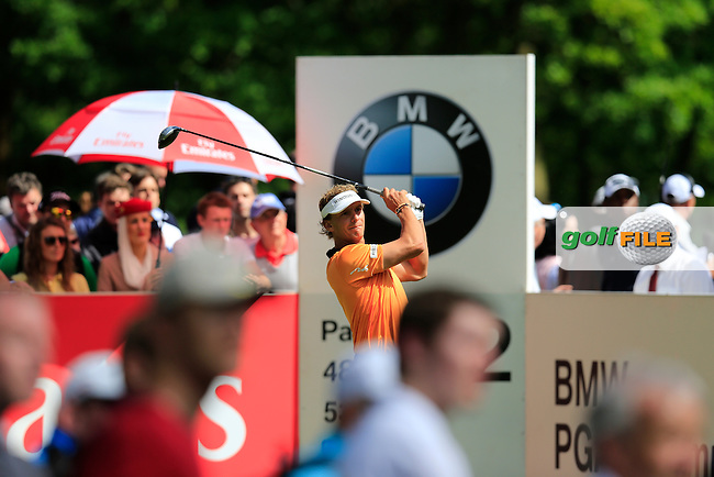 Joost LUITEN (NED) during the final round of the BMW PGA championship, Wentworth Golf Club, Virginia Water, London.<br /> Picture: Fran Caffrey www.golffile.ie