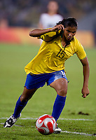 Fabiana. The USWNT defeated Brazil, 1-0, to win the gold medal during the 2008 Beijing Olympics at Workers' Stadium in Beijing, China.