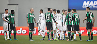 Calcio, Serie A: Sassuolo vs Juventus. Reggio Emilia, Mapei Stadium, 29 gennaio 2017. <br /> Sassuolo and Juventus players greet at the end of their Italian Serie A football match at Reggio Emilia's Mapei stadium, 29 January 2017. Juventus won 2-0.<br /> UPDATE IMAGES PRESS/Isabella Bonotto