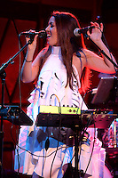 January 12, 2017<br /> <br /> Ximena Borges performing at Rockwood Music Hall on January 12, 2017 in New York City.<br /> <br /> Credit: Kristin Callahan<br /> 212 489 0521