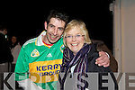 HEROES WELCOME: Some of the massive crowd who braved the cold on Monday night and gathered in the Spar Carpark, Castlegregory to welcome home the All Ireland Junior Club Champions.