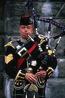 Bagpiper, 70th Highlanders, Halifax Citadel National Historic Site, Halifax, Nova Scotia, Canada