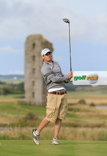Patrick Neville (Bearna) on the 13th tee during the South of Ireland Amateur Open Championship Second Round at Lahinch Golf Club  28th July 2013 <br /> Picture:  Thos Caffrey / www.golffile.ie