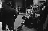 The school meeting in which each person (adult or kids) has one vote, Summerhill school, Leiston, Suffolk, UK. 1968.