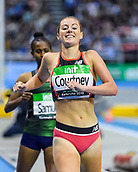 2nd February 2019, Karlsruhe, Germany;  3000m women: winner Melissa Courtney (GBR). IAAF Indoor athletics meeting, Karlsruhe
