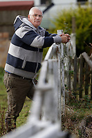 Former Olympic cyclist Darryl Webster, at the smallholding where he lives in the village of Alltwalis, Wales, UK. Monday 11 November 2019
