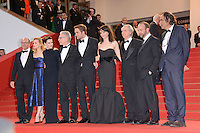 "Martin Katz, Sarah Gadon, Emily Hampshire, David Cronenberg,Robert Pattinson, Juliette Binoche,Don Dellilo, Paul Giamatti and Paulo Branco attending the ""Cosmopolis"" Premiere during the 65th annual International Cannes Film Festival in Cannes, France, 25.05.2012...Credit: Timm/face to face /MediaPunch Inc. ***FOR USA ONLY***"