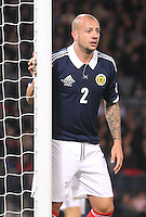 Alan Hutton in the Scotland v Macedonia FIFA World Cup Qualifying match at Hampden Park, Glasgow on 11.9.12.