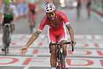 Loic Chetout (FRA) Cofidis crosses the finish line at the end of Stage 6 of the La Vuelta 2018, running 150.7km from Hu&eacute;rcal-Overa to San Javier, Mar Menor, Sierra de la Alfaguara, Andalucia, Spain. 30th August 2018.<br /> Picture: Colin Flockton | Cyclefile<br /> <br /> <br /> All photos usage must carry mandatory copyright credit (&copy; Cyclefile | Colin Flockton)