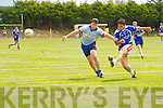 Shane O'Sullivan (renard) in action with Ronan Kerins (St Senans) in the County League Div 5 round 7 at St Senans GAA Grounds, Mountcoal, on Sunday.