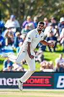 Ish Sodhi of the Black Caps during Day 3 of the Second International Cricket Test match, New Zealand V England, Hagley Oval, Christchurch, New Zealand, 1st April 2018.Copyright photo: John Davidson / www.photosport.nz