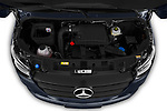 Car Stock 2019 Mercedes Benz Sprinter-Tourer Design-Line 4 Door Passanger Van Engine  high angle detail view