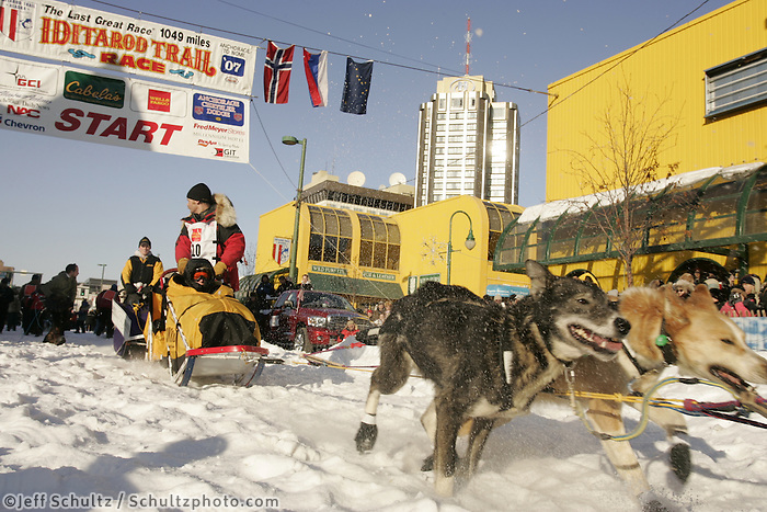 March 3, 2007  Mitch Seavey during the Iditarod ceremonial start day in Anchorage