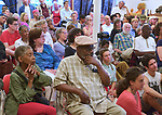 "View of the standing room only crowd at the ""An Evening of Real History"" event, at the A.J. Williams-Myers African Roots Center, in Kingston, NY, on Saturday, July 29, 2017. Photo by Jim Peppler. Copyright/Jim Peppler-2017."