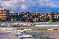 Surf kayakers, Manly Beach, Sydney, New South Wales, Australia