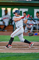 Alberti Chavez (16) of the Billings Mustangs at bat against the Ogden Raptors in Pioneer League action at Lindquist Field on August 12, 2016 in Ogden, Utah. Billings defeated Ogden 7-6. (Stephen Smith/Four Seam Images)