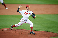 Altoona Curve starting pitcher Austin Coley (17) delivers a pitch during a game against the New Hampshire Fisher Cats on May 11, 2017 at Peoples Natural Gas Field in Altoona, Pennsylvania.  Altoona defeated New Hampshire 4-3.  (Mike Janes/Four Seam Images)
