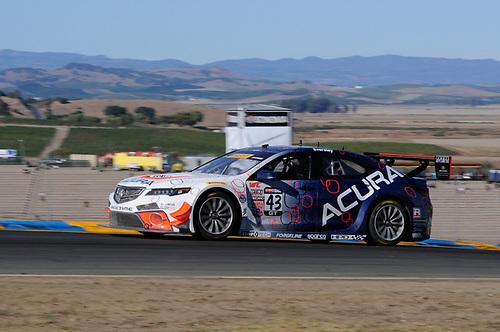 28-30 August, 2015, Sonoma, California, USA<br /> #43 Ryan Eversley, Acura TLX-GT<br /> © 2015, Jay Bonvouloir, ESCP