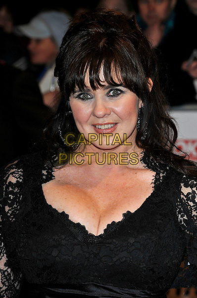 COLEEN NOLAN.The 15th National Television Awards held at the O2 Arena, London, England..January 20th, 2010.NTA NTAs headshot portrait black lace cleavage loose women.CAP/PL.©Phil Loftus/Capital Pictures.