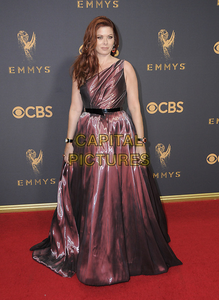 17 September  2017 - Los Angeles, California - Debra Messing. 69th Annual Primetime Emmy Awards - Arrivals held at Microsoft Theater in Los Angeles. <br /> CAP/ADM/BT<br /> &copy;BT/ADM/Capital Pictures