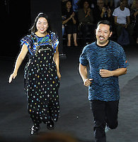 NEW YORK, NY - OCTOBER 19: Humberto Leon, and Carol Lim attends KENZO x H&M - Arrivals at Pier 36 on October 19, 2016 in New York City. Credit: John Palmer / MediaPunch