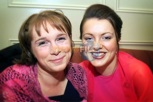 Oonagh Staunton and Clodagh McDonnell pictured at the Fernanda Scappaticci College of Beauty graduation dance in the Westcourt Hotel..Picture: Arthur Carron/Newsfile