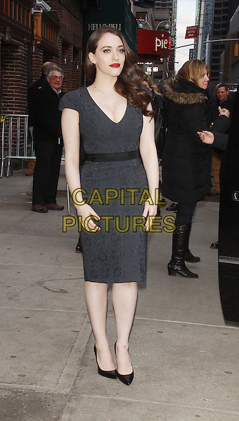 NEW YORK, NY - FEBRUARY 25: Kat Dennings at Late Show with David Letterman in New York City on February 25, 2014. <br /> CAP/MPI/RW<br /> &copy;RW/ MediaPunch/Capital Pictures